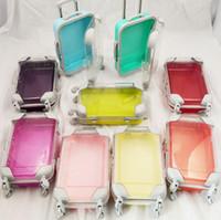 도매 미니 귀여운 가방 가짜 속눈썹 포장 상자 2 쌍 플라스틱 빈 속눈썹 상자 케이스 3D 속눈썹 저장 상자 SN1075
