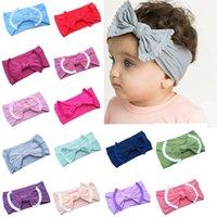 Bebé Hairband del niño del arco Hairband la borla de la venda de los bebés gran nudo turbante niños accesorios para el cabello 22 Diseños Partido RRA2716 favor