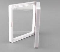 400 Pz / lotto 7x7x2 cm, display di foto di membrane di plastica chiara / scatola di raccolta / contenitore di monili con due membrane chiare di tenuta-ourself di due