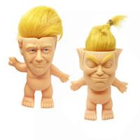 Donald Trump Troll Doll drôle Trump Simulation Creative Vinyl Toys Figurines d'action Poupées Cheveux longs drôle Jouer main enfants Jouets gros ZSS360
