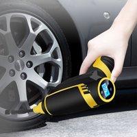 LED الرقمية الذكية سيارة الهواء مضخة ضاغط المحمولة سيارة يده صور نافخة مضخة الهواء الكهربائية 150 PSI إصلاح أداة زينة