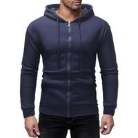 남성 일반 까마귀 7 색 후드 코튼 스웨트 캐주얼 솔리드 천 묶여 벨트 탑 남성 따뜻한 재킷을 위로 지퍼