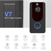 V7 HD 1080P Wifi drahtloses Video Dorbell Kamera Visuelle Intercom-Kamera IR-Nachtsicht-PIR Motion Detection APP Steuerung Home Security-Camcor