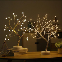 LED Tree Lights Table Lamp Bedside Night light Copper Wire L...