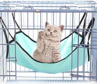 Fleece hamaca gato color sólido de doble cara colgando camas jaula de conejo suaves para dormir mascota cómodo cuatro estaciones cama del animal doméstico