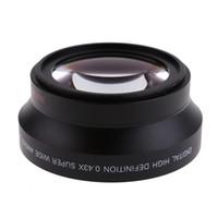 Obiettivo grandangolare Super Fisheye 67mm 0.43x + Obiettivo macro per obiettivo Canon Nikon Sony 5D 6D 7D Nikon Sony ALL ALL Tutto DSLR