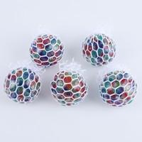 5cm 다채로운 메쉬 스 퀴시 포도 공 안티 스트레스 공 압박 장난감 압축 해제 불안 장난감 통풍 공