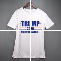 kadınlar Donald Trump Tren 2020 Tişört O-Yaka Kısa Kollu Gömlek ABD Bayrağı Amerikan Büyük harf Tee Gömlek LJJA3834 Tops tutun