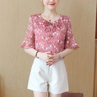 Summer Chiffon Blouses And Shirts For Women' s 2019 Fash...