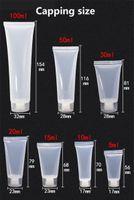 5 ml 10 ml 15ml 20ml 30 ml 50 ml 100 ml Şeffaf Plastik Emülsiyon Tüp Şişe Fırçalama Parlak Konteyner Boş Kozmetik Krem Konteyner JXW503