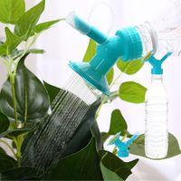 2in1 Kunststoff Spritzdüse für Blumen Waterers Flasche Gießkannen Sprinkler Hausgarten-Blumen Pflanze Wasser Sprinkler Bewässerung Werkzeug