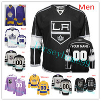 Custom Los Angeles Kings Hockey Jersey Kovalchuk Anze Kopitar Dustin Brown Drew Doughty Jonathan Quick Jeff Carter Tyler Toffoli Jake Muzzin