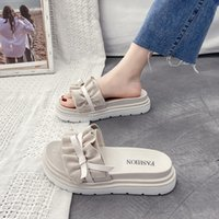 Slippers Casual Flat Shoes Female Med Platform Lady Slipers ...