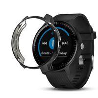 Custodia protettiva morbida per Garmin Vivoactive 3 Music Forerunner 645 Smart Watch Cover nera Conchiglia Custodia protettiva impermeabile