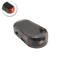 Солнечная USB Power Автосигнализация Light Anti-Theft Предупреждение Вспышка мигает Поддельный автомобиль водить свет вспышки мигает лампа Красный Синий