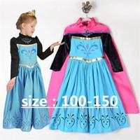 Falda infantil directa de fábrica Vestido de estampado de dibujos animados Lentejuelas de malla para niñas Vestido de princesa Capa larga Disfraces para niños