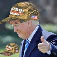 chapéu 3styles Camouflage Donald Trump bandeira dos EUA boné de beisebol trunfo 2020 Letter Sun Hat bordado 3D da estrela chapéus ajustável Snapback FFA3025