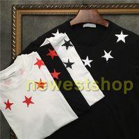 2020 mens superiores de verano de lujo más nuevos de impresión pentagrama Broken camiseta estrella de cinco puntas camiseta de algodón camiseta ocasional del diseñador de la camiseta superior informal