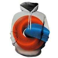 E-Baihui 2020 European and American Explosive Geometric Pattern Hooded Sweater, Digital Printing 3D Hoodie Round Neck Hoodie MT004