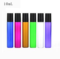 10ml vazio vidro Roll On Blue Bottle Green Rose Red garrafas de rolos para os óleos essenciais, Aromaterapia, Perfumes e Lip Balms SN704