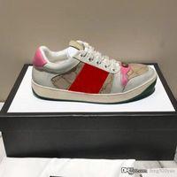 Scarpe casual da uomo Donna Viaggio 100% Pelle Lace-Up Sneaker Fashion Lady Designer Running Trainers Lettere Donna Scarpa Stampata piatta Piatta da ginnastica Sneakers Grande taglia 36--39-42-45
