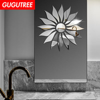 Decorate Home 3D sun flower cartoon mirror art wall sticker ...