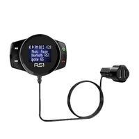 RS1 Многофункциональный автомобиля зарядное устройство беспроводной Bluetooth FM-передатчик Hands Free автомобильный комплект Большой дисплей MP3-плеер USB зарядное устройство