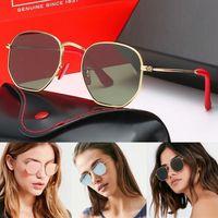 케이스와 상자와 브랜드 디자인 편광 패션 선글라스 남성 여성 파일럿 선글라스 UV400 안경 금속 프레임 폴라로이드 유리 렌즈