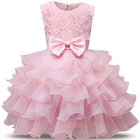 Kleinkind Mädchen Tutu Brautkleider Fancy Blume Mädchen Kleidung Neugeborenes Baby Taufkleid Kleid Für Kinder 1 Jahr Geburtstagskleid