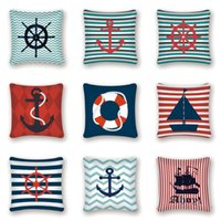 Nautical Pillow Cover Decorative Cushion Covers Navy Anchor ...