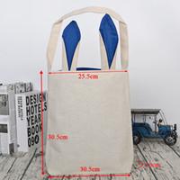 2020 Femmes sacs à main Lapins de Pâques Paniers oreilles de lapin sacs cadeaux pour les couleurs Mix enfants Jute meterial