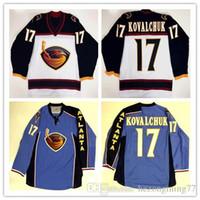 93e3b1e8e New Arrival. free shipping mens Atlanta Thrashers  17 Ilya Kovalchuk Ice Hockey  Jersey ...