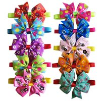 Dog Cat Bow Ties Cute Flower Bees Pet Puppy Adjustable Bowkn...