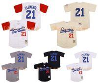 Alta qualità ! 21 Roberto Clemente Jersey Santurce Crabbers Puerto Rico Jerseys White Cream Grey Black Black 100% Cucito Baseball Jersey