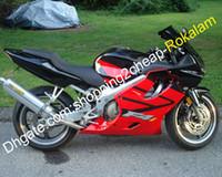 Shell-Set für Honda CBR600 F4i CBR 600 600F4I CBRF4I Rot Schwarzes ABS-Kunststoff-Motorradverkleidungs-Kit 2004 2005 2006 2007 (Spritzgießen)