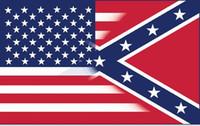 transporte livre bandeira americana 5X3FT com bandeira guerra Confederate Rebel Civil nova bandeira estilo