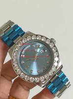 جودة عالية المعصم جديد وصول 44 ملليمتر كامل الماس 118018 آسيا 2813 الحركة التلقائي رجل الرجال ساعات الساعات