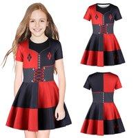 여름 소녀 드레스 (2)는 할리 퀸 3D 인쇄 키즈 걸스 파티 코스프레 공주 드레스 아이 디자이너 옷 여자 JY47 드레스 디자인