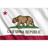 California State Flag CA State Flag 3x5FT Banner 100D Polyester 150x90cm Messingösen individuelle Flagge, freies Verschiffen