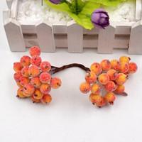 400heads artificielle fleur perle grenade cerise baies Stamble pour le mariage Décoration bricolage scrapbooking décoratif
