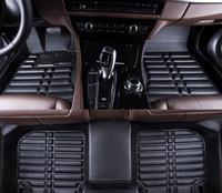 미쓰비시 랜서 EX 2009-2016 자동차 바닥 매트의 전면 및 후면 패드 액세서리 미끄럼 방지 방수 가죽 카펫 자동차 매트에 적용