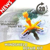 Fijar parabrisas del sistema de herramienta de cristal del parabrisas reparación de reparación de parabrisas kit de reparación de herramientas de la ventana de cristal juego de pulido