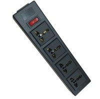 pdu strip 4 Ways power strip Outlet Extensión de enchufe universal con protector de sobrecarga, protector contra sobretensiones Outlet spread