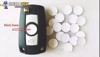 스타일링 스티커 배지 50pcs / lot 3D 10mm 11mm 12mm 크리스탈 자동차 로고 키 엠블럼 버튼 스티커 폭스 바겐 VW Skoda 접는 키