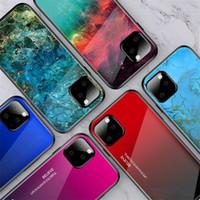 Caso gradiente de mármol teléfono para el iPhone 11 11Pro 11Pro Max 2019 vidrio templado duro híbrido cubierta del caso para el nuevo iPhone X XS Max