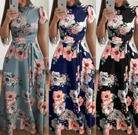 Women Floral Dress 6 Styles Bohemia Printed Maxi Dresses Sho...