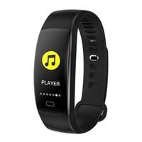 F64HR الذكية سوار ضغط الدم الأكسجين في الدم مراقب الذكية ووتش معدل ضربات القلب للياقة البدنية المقتفي كاميرا ساعة اليد الرياضة للحصول على الروبوت فون