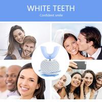 360 gradi automatico intelligente di Sonic Spazzolino elettrico U Tipo spazzolino da denti USB di ricarica dente denti Blue Light Buone