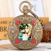 Elegant Beauty Arts Image Retro Mechanical Pocket Watch Tour...