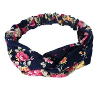 Floral Knotted Headband Headwear Hair Ribbons Turban Elastic...